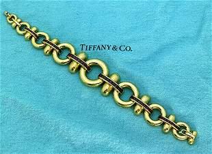 Tiffany & Co 18K Yellow Gold 4 TCW Ruby Bracelet Size