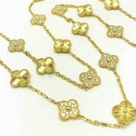 Van Cleef & Arpels Vintage Alhambra 18k Diamond 20motif