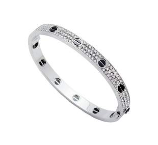 Cartier WHITE GOLD LOVE BRACELET, DIAMOND-PAVED,