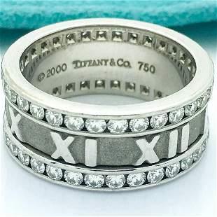 Tiffany & Co. 18k Diamond Atlas Ring/Band Size 6.75