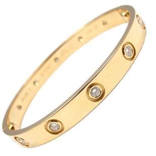 Cartier Yellow Gold 10 Diamond Love Bracelet Size 15
