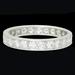 Cartier Estate Platinum 1.25ct Eternity Band Ring