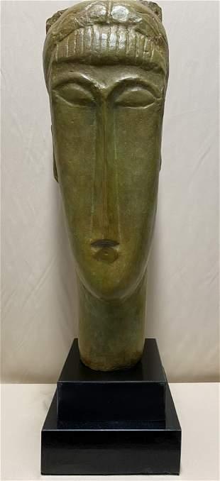 Amedeo Modigliani Huge Italian Bronze Sculpture