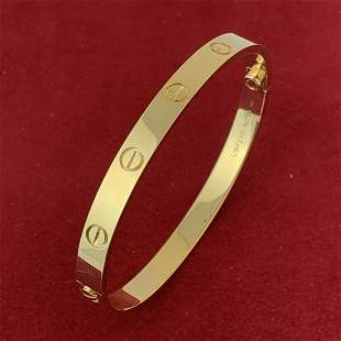 Cartier Love Bracelet 18K Yellow Gold Size19