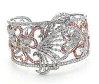 Butterfly Cuff Bracelet in White Gold apx. 6.5 TCW