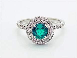 Tiffany & Co. Soleste Diamond Emerald Ring Size 7.25