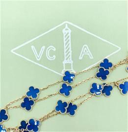 Van Cleef & Arpels Vintage Alhambra 18K gold Blue Agate