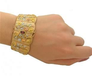 Estate Buccellati 18k Yellow Gold Wide Bracelet