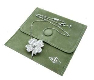 Van Cleef & Arpels White Gold Diamond Cosmos Pendant