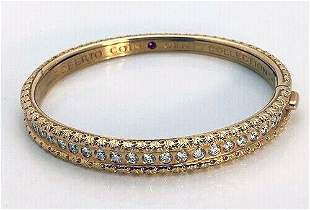 Roberto Coin Cento 18K Diamond Florentine Bangle
