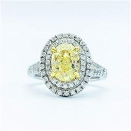 Tiffany & Co. Platinum & 1.74 CT Oval Yellow Diamond