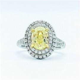Tiffany & Co. Platinum & 1.74 CT Oval Yellow Diamond