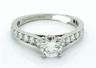 Cartier Platinum 950 Engagement Ring Sz 5.25