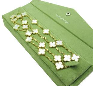 Van Cleef & Arpels 18k Alhambra 20 motif Necklace