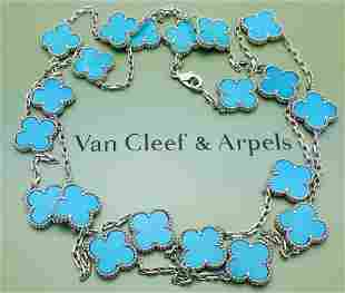 Van Cleef & Arpels Vintage Alhambra 18K Long Necklace