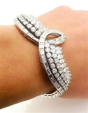 Vintage Harry Winston Platinum 20 TCW Diamond Bracelet