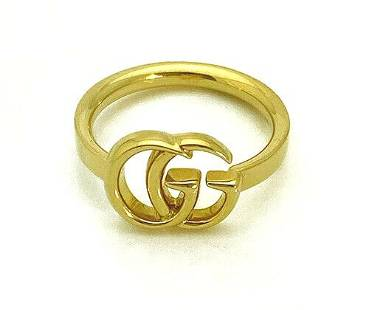 Gucci GG Running 18K Yellow Gold Ring Size 6.5
