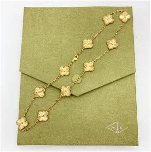Van Cleef & Arpels Vintage Alhambra necklace 18K Yellow
