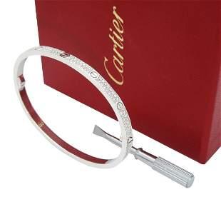 Cartier 18k DIAMOND LOVE THIN PAVÉ BRACELET