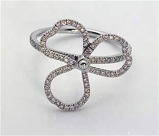 Tiffany Paper Flowers Diamond Open Flower Platinum Ring