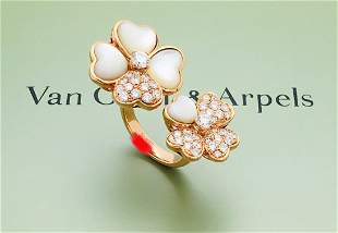 Van Cleef & Arpels 18K Diamond Cosmos Between the
