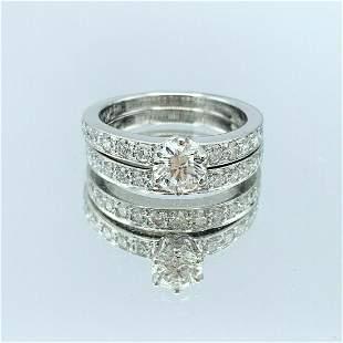 Tiffany & Co PT & .47ct Diamond Engagement Ring &