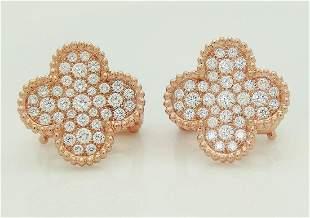 Van Cleef Arpels 18k Magic Alhambra Diamond Earrings
