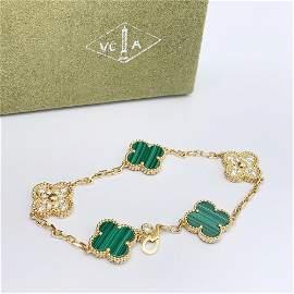 Van Cleef & Arpels Vintage Alhambra Malachite& Diamond