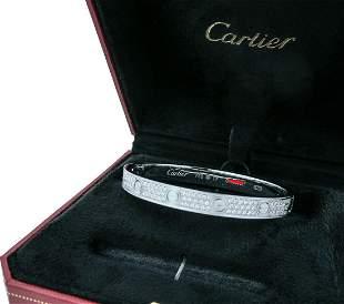 Cartier LOVE DIAMOND PAVED WHITE GOLD BRACELET
