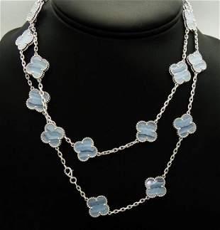 Van Cleef & Arpels Vintage18k Chalcedony 20 M Necklace