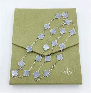 Van Cleef & Arpels Vintage Alhambra Chaledony Diamond