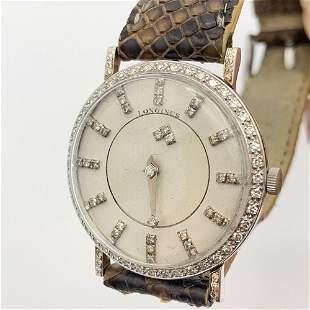 LONGINES Mystery Dial Diamond & 18K White Gold Case w/