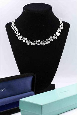 Tiffany & Co Flowers 8.56tcw Diamond Cluster Necklace