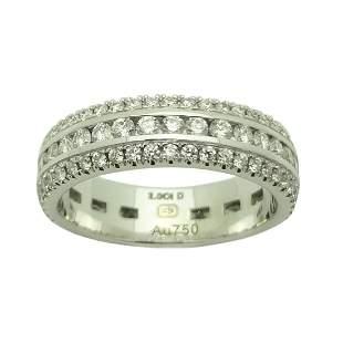 Harry Winston 2CT Diamond 18K Gold 5MM Ring Size 5.75