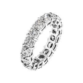Eternity band 6.15Ct Cushion Cut Diamonds Mounted in
