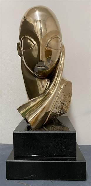 Romanian Bronze Constantin Brancusi Mademuaselle Pogany