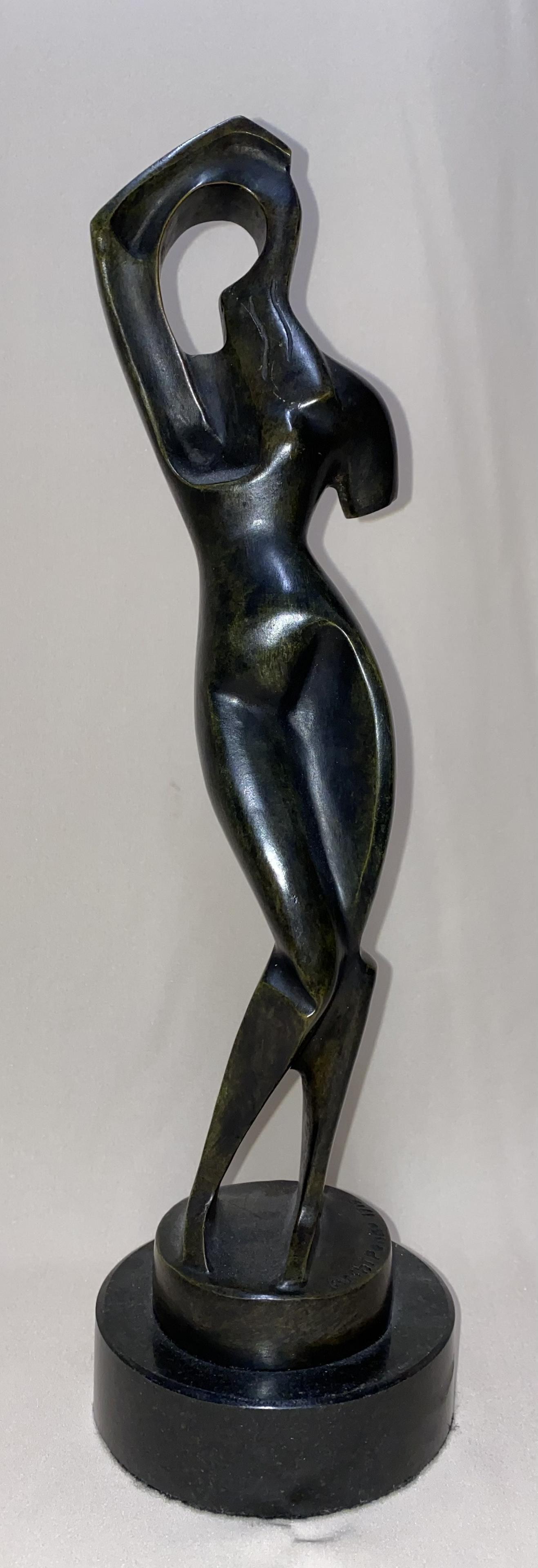 Archipenko ukrainian american bronze sculpture woman