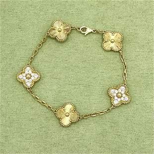 Van Cleef & Arpels Alhambra 18K Diamond Bracelet