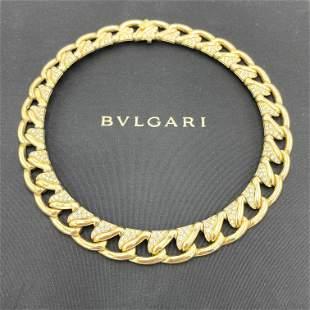 BVLGARI, Chocker 18K 5.5CT Diamond Necklace