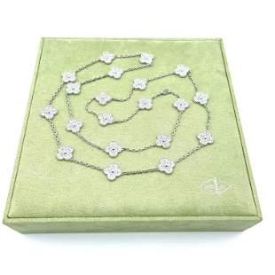 Van Cleef & Arpels 20 Motif Diamond Long Necklace