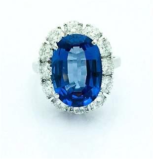 Estate Platinum 8.47TCW Tanzanite Diamond Ring
