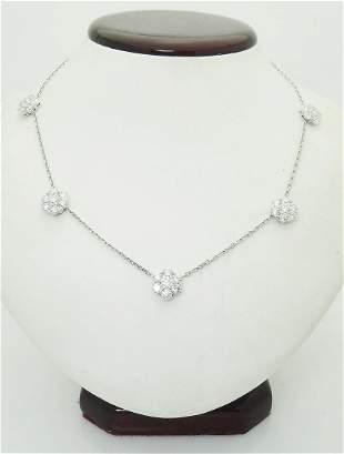Van Cleef & Arpels 18k Gold 4.70TCW 5 Flower Diamond