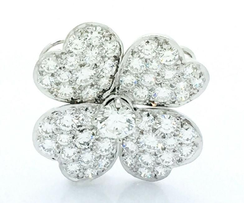 Van Cleef & Arpels 18k Gold Diamond Flower Pendant