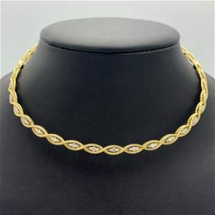 Roberto Coin Barocco 18k Yellow Gold Diamond Braided
