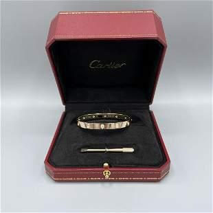 Cartier 10 Diamond Love Bracelet Size 17