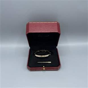 Cartier 10 Diamond Love Bracelet Size 18