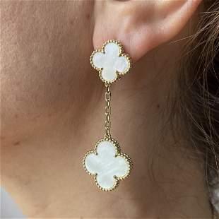 Van Cleef & Arpels Alhambra Mother of Pearl 2 Motif Ear