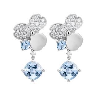 Tiffany & Co Paper Flowers Aquamarine Single Drop