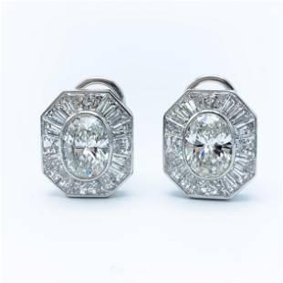 Graff diamond earrings with Over 10ct diamonds GIA