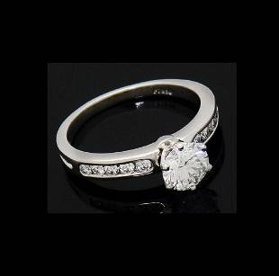 Tiffany & Co Platinum 0.82 Carat VS1 E Engagement Ring